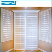 Plastic shutters and house dining room fireproof louver more tough and durable