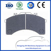 Low Noise Semi Metal Mountain Region IVECO Truck Brake Pad With Metal Shim