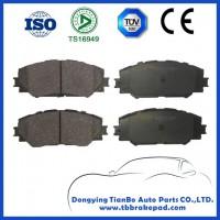 Non Asbestos Organic Semi Metallic Brake Pad For Toyota Corolla With Shim Front
