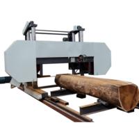 large horizontal wood cutting sawmill bandsaw machine