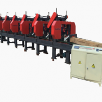 Mobile multiple heads sawmill machine for sale