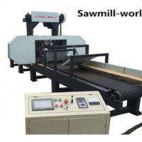 Multiple heads wood machine band saw for cutting planks
