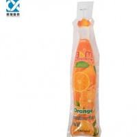 Custom heat seal 180ml plastic bottle shaped juice bag /250ml bottle shaped pouch for juice